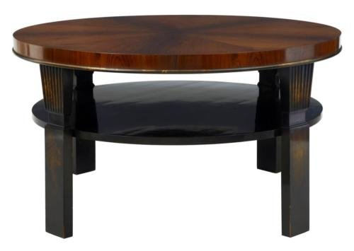 20TH CENTURY ART DECO LARGE ROSEWOOD BIRCH COFFEE TABLE