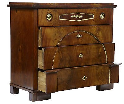 Antique EARLY 19TH CENTURY SWEDISH MAHOGANY SECRETAIRE CHEST OF DRAWERS