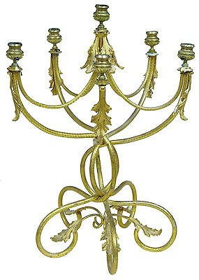 19TH CENTURY FRENCH ORMOLU 6 CANDLE CANDLEBRA