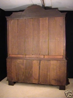 Antique Exemplary Early 18th Century Red Walnut and Oak Press