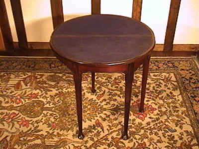 Antique Small George II Mahogany Demi lune Card Table c. 1740