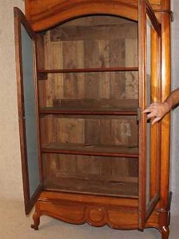 Antique Beautiful Quality Solid Walnut 1940's French 2 door Armoire in Lovely condition