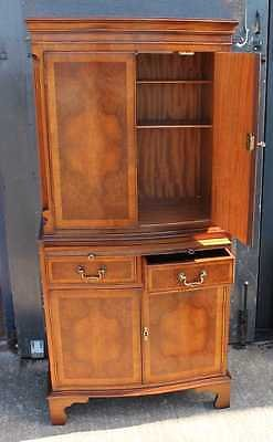Antique Large Mahogany Serpentine fronted Tallboy with Brushing Slide 1960's