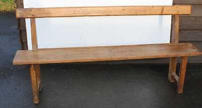 Antique 1920's French Rustic Country style Solid Pine Bench Seat.