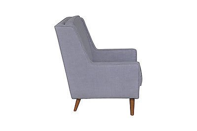 Antique Contemporary Stylish Linen Moss Occasional Armchair in Nova Cloud .  New. 1 LEFT
