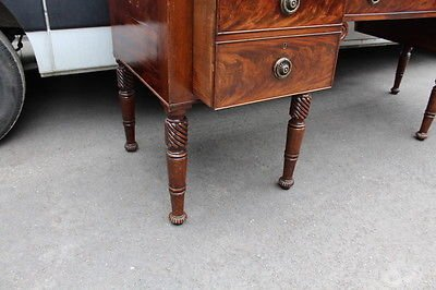 Antique Georgian Large Mahogany Sideboard/ Server with Back. Lovely Turned Legs.