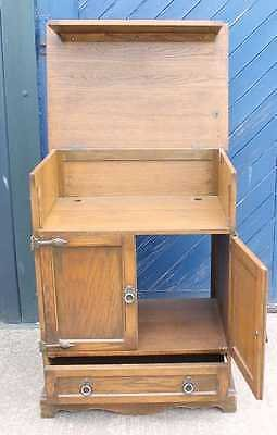 Antique .1960's Oak Linen Fold Bar/ Cabinet. Variety of Uses.