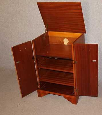 Antique Yew Wood Music Cabinet with drawers and shelves. Variety of uses.