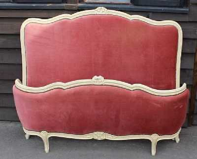Antique 1940's Corbeille Bed , Head, foot and side rails in Red  Double. Check sizes.