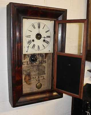 Antique 1920 American decorative 30 hour Wall Clock good working Order