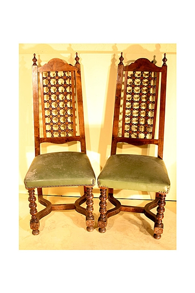 Antique Art & Craft set of 12 dining chairs