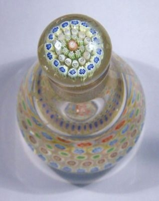 Antique French Millefiori Scent Bottle with Stopper