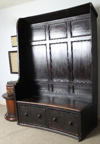 Antique 19th century north country settle