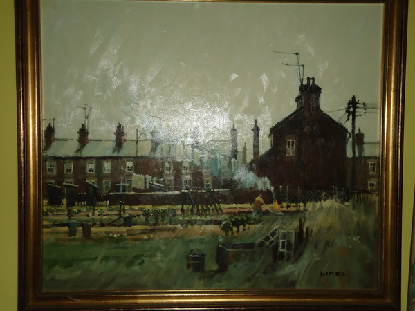 Antique John Lines Oil Painting
