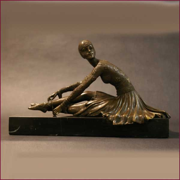 Antique Art Decó 1920 Bronze Sculpture