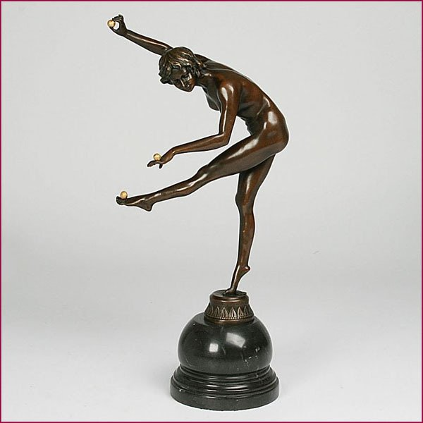 Antique ART DECÓ 1920 BRONZE NUDE