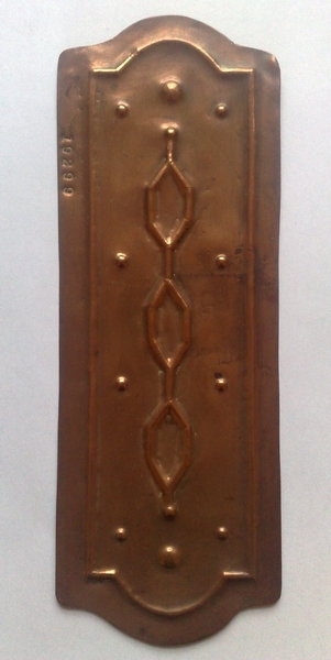 Antique Arts and Crafts copper fingerplate c.1900