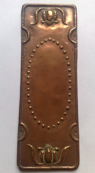 Arts and Crafts copper fingerplate c.1900