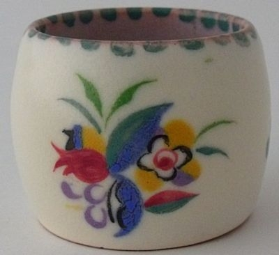 Antique Attractive Early Poole Pottery Egg Cup / Pot - Art Deco