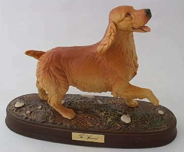 Antique Beswick Golden Spaniel Dog On Plinth Model Number 2980