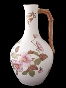 Antique Large Antique Royal Worcester Aesthetic Ewer Jug c1885