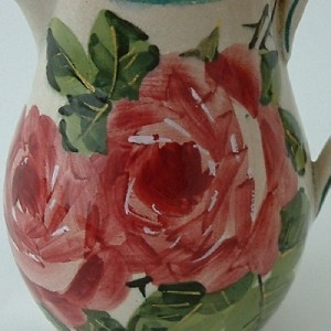 Antique Lovely Wemyss Ware Scottish Pottery Cabbage Roses Jug