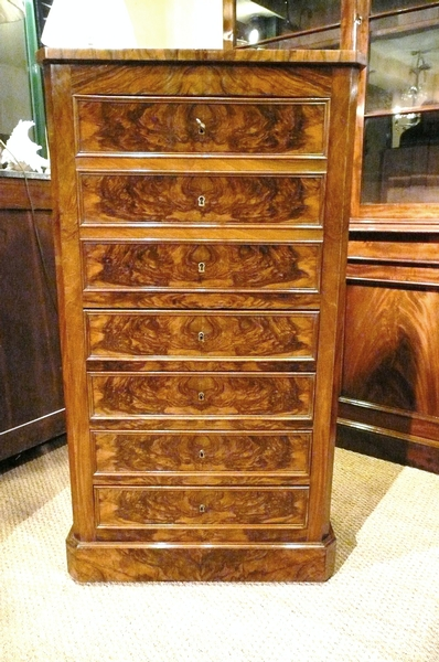 Antique WALNUT SECRETAIRE DESK C1880