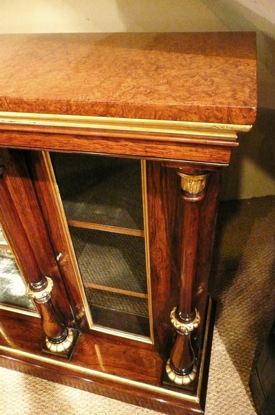 Antique SIDE CABINET ROSEWOOD AND GILT