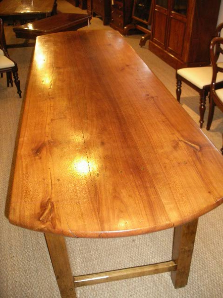 Antique CHERRYWOOD FARM TABLE / REFECTORY TABLE