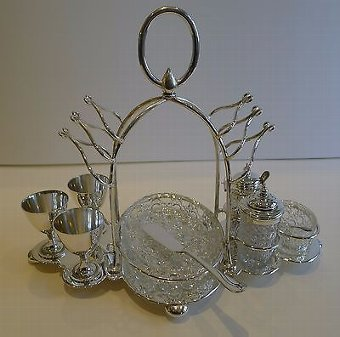 Antique Antique English Silver Plated Breakfast Cruet by Mark Willis c.1880