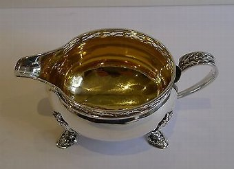 Antique Pretty English Sterling Silver Tea Set - 1925 by Docker & Burn
