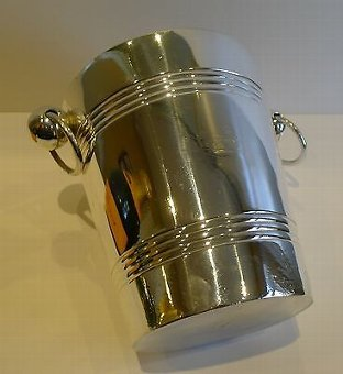 Antique Antique English Silver Plated Wine Cooler / Ice Bucket by Elkington - 1898