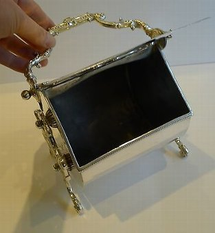 Antique Unusual Antique Automated English Biscuit Box / Server Dated 1894