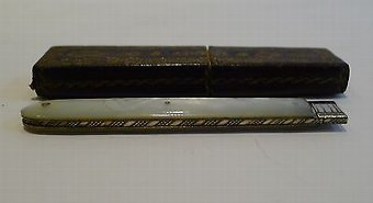 Antique Antique English Sterling Silver & Mother of Pearl Fruit Knife - 1832