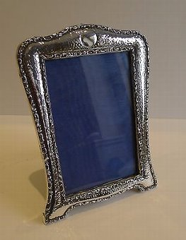 Antique Antique English Arts & Crafts Sterling Silver Photograph Frame - 1909