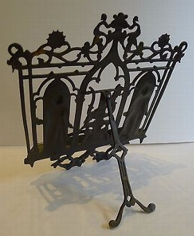 Antique Antique German Figural Lectern / Sheet Music Stand by Zimmermann c.1880