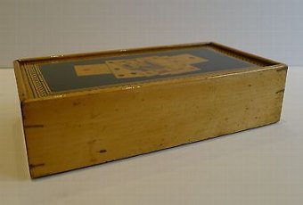 Antique Antique First Period Tunbridge White Wood Card Box c.1810