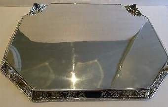 Antique Magnificent Antique English Reticulated Serving Tray by Lee & Wigfull c.1880