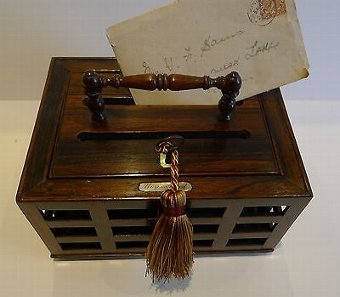 Antique Antique English Regency Letter Box in Rosewood c.1820