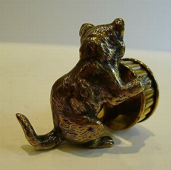 Antique Antique English Figural String / Twine Box - Cat c.1890