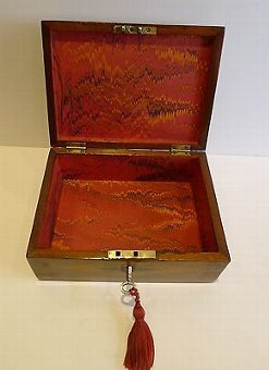 Antique Antique English Trinity House Jewelry or Desk Box c.1860