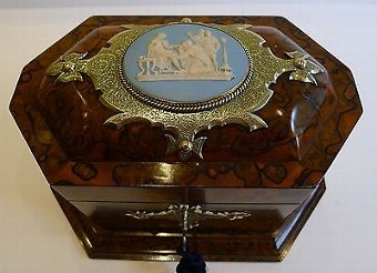 Antique Rare & Grand Antique English Tea Caddy by Asser & Sherwin, London c.1860