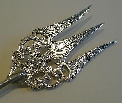 Antique Antique English Sterling Silver & Mother of Pearl Bread Fork by Francis Howard