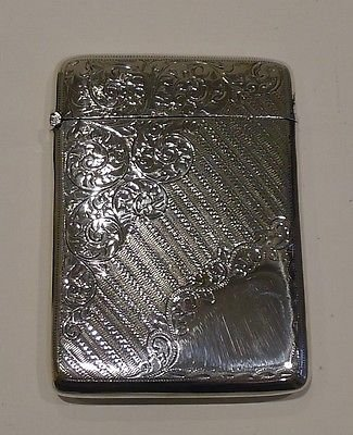 Antique English Sterling Silver Card Case - 1904 by Joseph Gloster