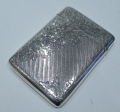 Antique Antique English Sterling Silver Card Case - 1904 by Joseph Gloster