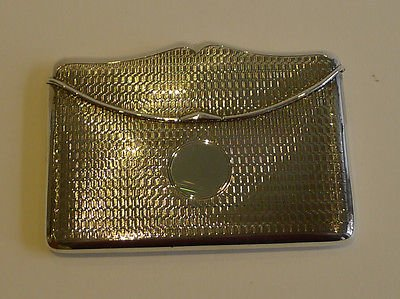 Unusual Antique English Sterling Silver Card Case by Henry Matthews