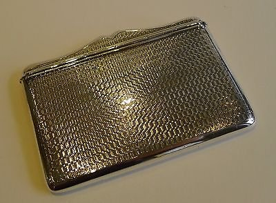 Antique Unusual Antique English Sterling Silver Card Case by Henry Matthews
