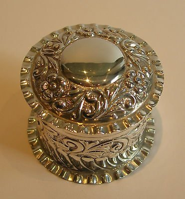Antique Antique English Sterling Silver Cylindrical Box - 1902