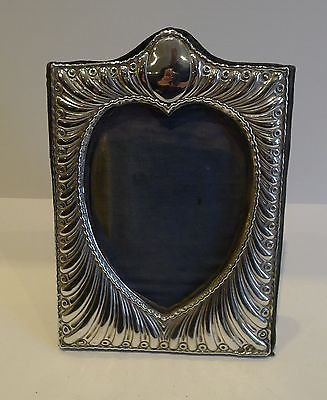 Antique Antique English Sterling Silver Heart Photograph Frame by William Comyns