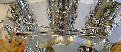 Antique Rare Antique English Silver Plated Golf Themed Cigar Compendium c.1900